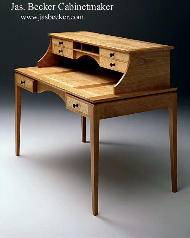 Desk W Pigeon Hole Console Writing Desk Ming Shaker