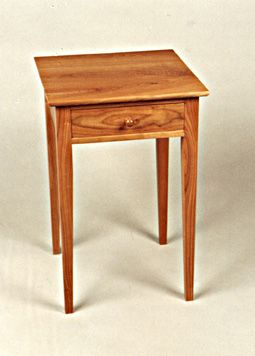 Shaker Cherry Nightstand with Drawer   Wilson Woodworking   Vermont