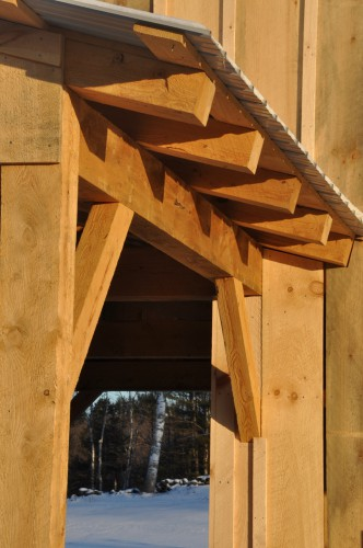 Country Hemlock Barn With Traditional Joinery