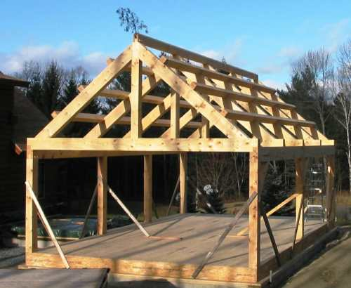 Post And Beam Construction In Relaxing Timber Frame Home