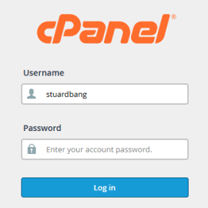 cPanel Login Form