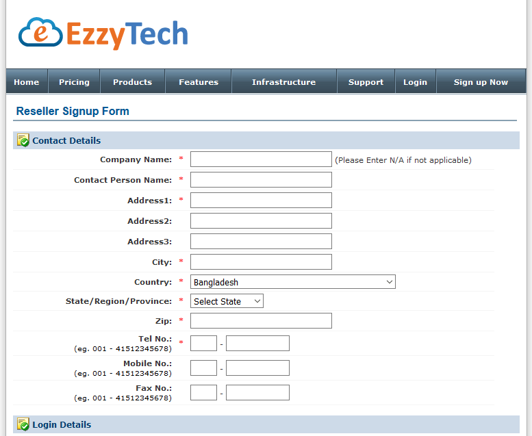 Signup for a Domain Reseller