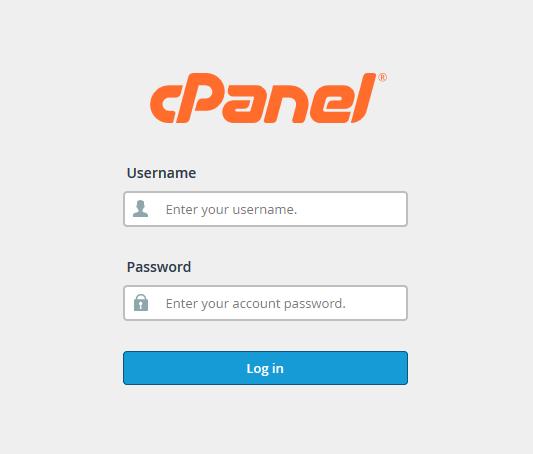 cPanel Login Interface