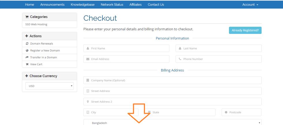 domain client info