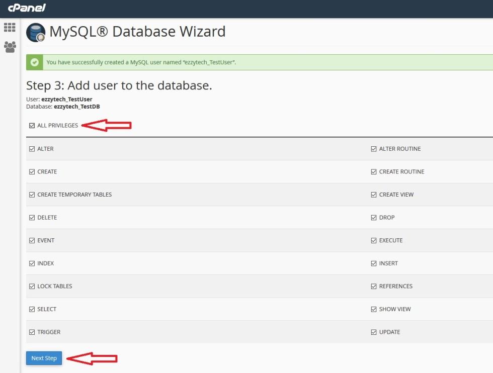Database Permission