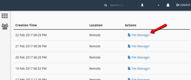 JetBackup File Manager