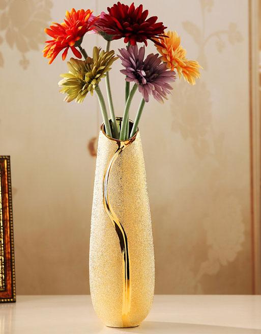 Modern Ceramic Tabletop Vase Home Decor Style B Vernisite