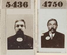 Martinus van de Voort op twee politiefoto's (Stadsarchief Amsterdam)
