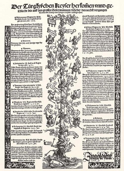 Stamboom van sultan Süleyman de Grote (Michael Ostendorfer, 1527)