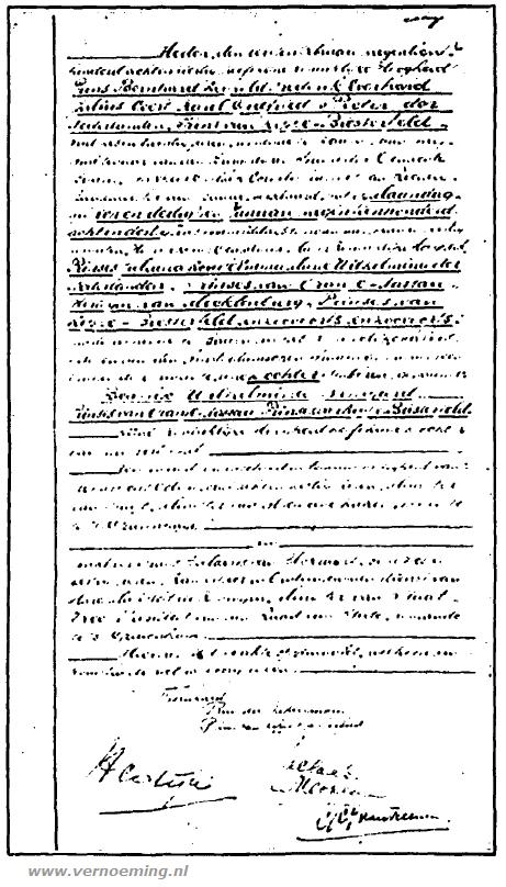 Deze afdruk van de geboorteakte werd gepubliceerd in Het Vaderland. De scan is helaas slecht leesbaar.