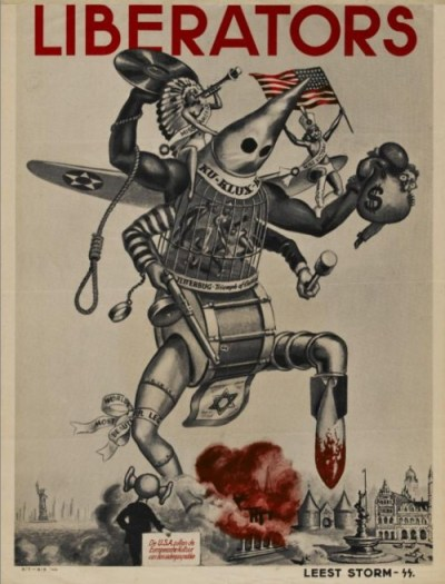Anti-Amerikaanse propaganda van de Nederlandsche SS (1944)