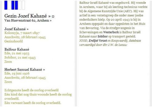 Het gezin Kahané in het Digitaal Monument Joodse Gemeenschap in Nederland