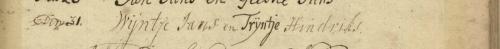 Huwelijk Wijntje Jans en Trijntje Hindriks, Beerta 31-5-1772