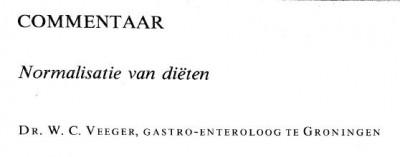 W.C. Veeger, gastro-enteroloog