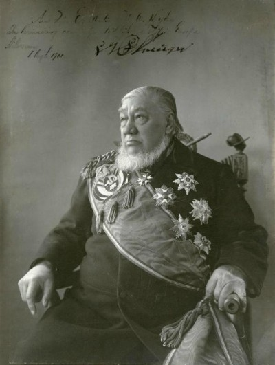 Gesigneerd portret van Paul Kruger (1901)