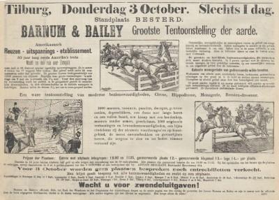 Advertentie in de Nieuwe Tilburgsche Courant van 2 oktober 1901