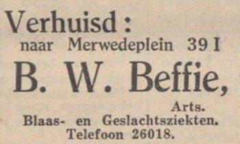 Dokter Beffie, arts voor geslachtsziekten