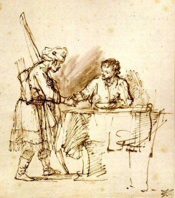 Rembrandt van Rijn: Esau verkoopt zijn eerstgeboorterecht aan Jakob