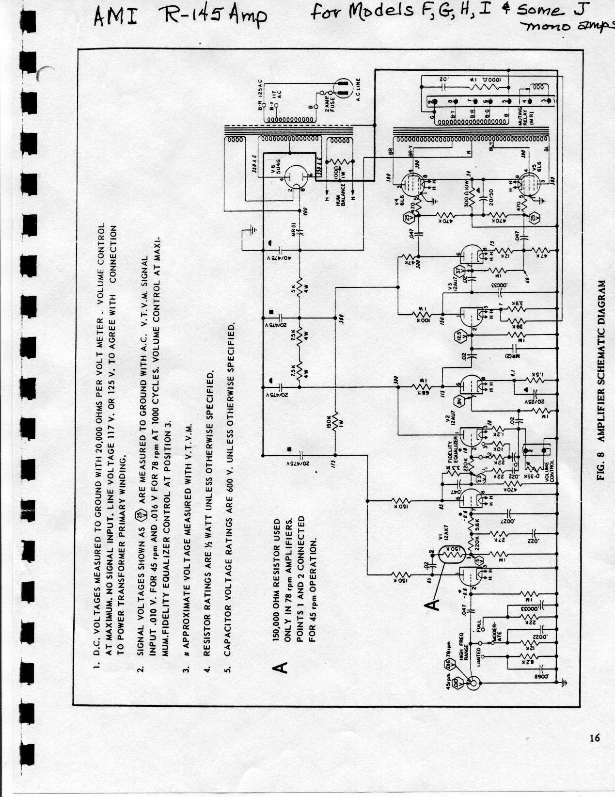 Jukebox List Schematics For Ami Amp