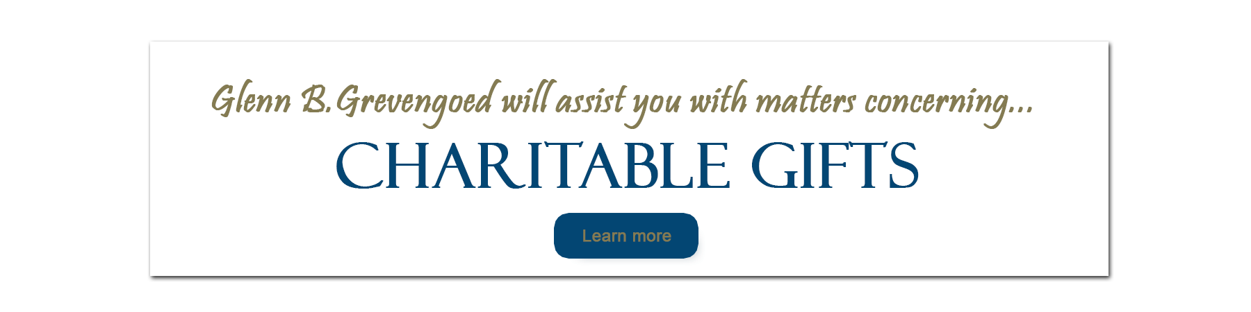 Charitable Gift Planning