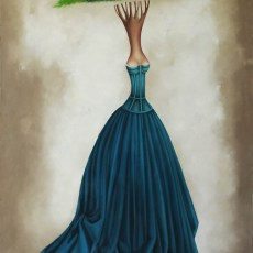 "Self Portrait 80x52"" Oil on canvas 2012"