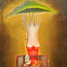 """In Love 12x9"""" Oil on canvas, 2012  SOLD"""