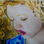 """Flying Curls/Rizos Volando. Based in a picture of/ Basada en una foto del sitio """"The Eyes of Children Around The World"""" (available/disponible)"""