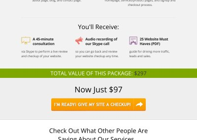 Sales Page Design – Website Roadmap Sales Page (Fingerprint Marketing)
