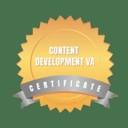Content Development Virtual Assistant Certification