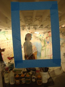 """Social Compost - Painting Machine by Veronica Reeves in """"Cagefights and Collaborations"""""""