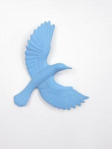 'Blackbird' in blue, detail, Veronica Wilton