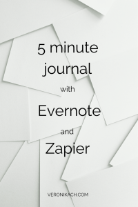 5 minute journal with Evernote