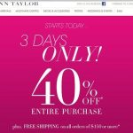 40% Off Entire Purchase at Ann Taylor, My Picks & A Brazilian Butt Lift (Without Surgery)