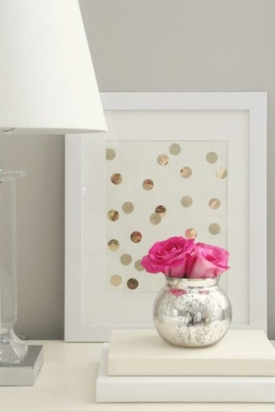 DIY Gold Polka-Dot Art: Perfect for a Nursery, Bedroom or Any Room!