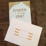 Harper's First Birthday Invitation