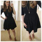 Eyelet-Stripe Dress