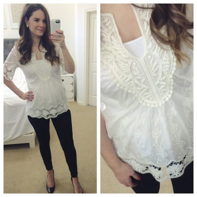 f8a3e8ab795 Nordstrom Anniversary Sale Buy: White Tunic Blouse - Veronika's Blushing