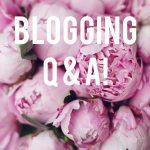 Blogging Q & A