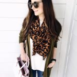 Leopard Scarf & Long Cardigan for Fall
