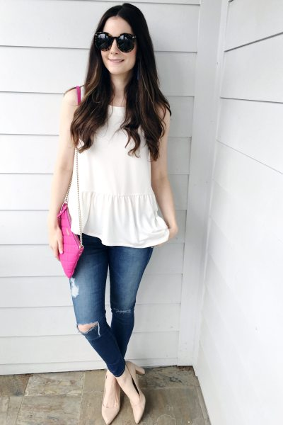 Peplum Assymetrical Hem Top for Under $25!