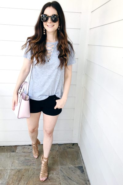 Grommet Lace-Up Tee
