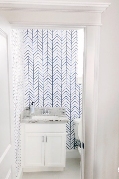 Kids Bathroom Makeover: Wallpaper + Design Plans