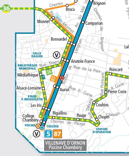 Plan d'accès en bus