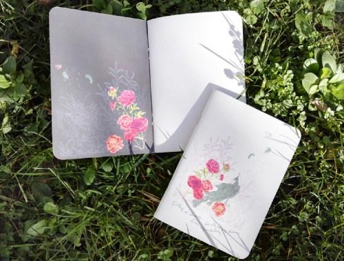 ©Véronique Milioni, créatrice, Papeterie Notebooks Paon & Attente