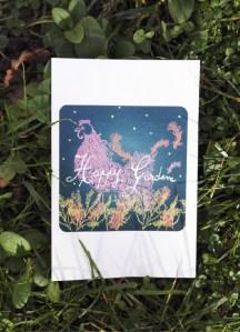 ©Véronique Milioni, Créatrice, Papeterie Carte Postale Happy Garden