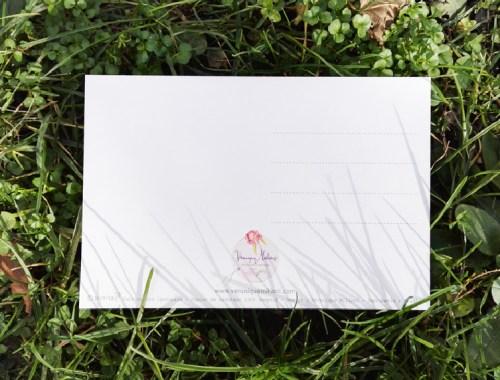 ©Véronique Milioni, créatrice, Papeterie Cartes Postales Dos