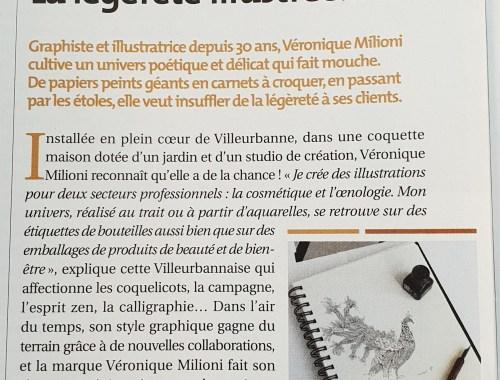 Véronique Milioni, Revue de presse, Article dans viva villeurbanne, la légèreté illustrée...