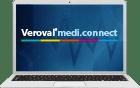Slika računala s programskom opremom Veroval®medi.connect na zaslonu.