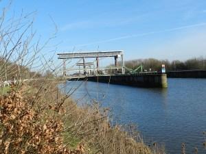 De Tijsluis nabij de monding van de Dender.