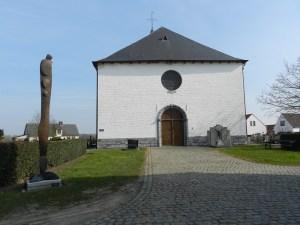 Kouterroute - witte kerk van Moregem.